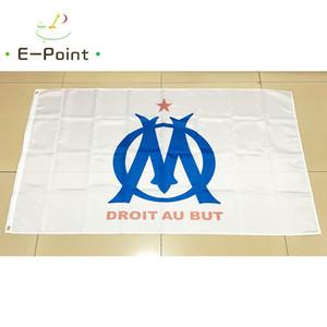 Francia Olímpica de Marsella 3 * 5 pies (90 cm * 150 cm) Bandera de poliéster Decoración de la bandera bandera del jardín de su casa volando regalos festivos