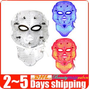 2015 Skin Mask nuevos 3 en 1 LED cuello de la cara Cuidado de arrugas eliminación de Lucha contra el envejecimiento Spa Máquina de belleza