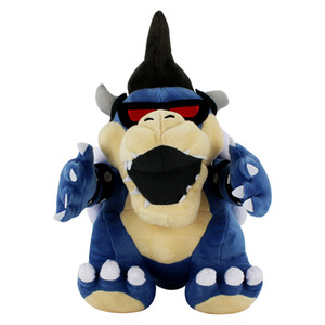 1pcs 29cm Super Mario Bros Bleu Bowser Koopa en peluche Jouets Cartoon Dry Bones de dragon en peluche Poupées Kuba