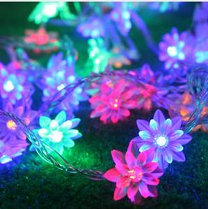 10м светодиодные струнные огни 80 цветов лотоса светодиодные рождественские огни вечеринки праздник занавес украшения светильника