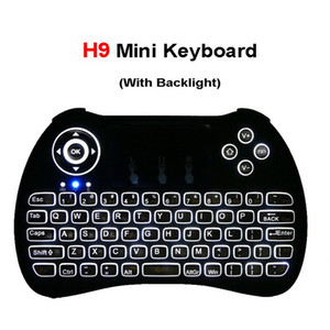 Wireless Backlit Keyboard H9 Fly Air Mouse Backlight Multi-Media Remote Control Touchpad For Android TV BOX