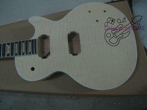 맞춤 메이플 마호가니 바디 미완성 일렉트릭 기타 키트 Flamed Maple Top