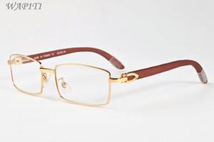 occhiali da sole di legno moda per gli uomini di bambù bicchieri di bufalo sport corno donne occhiali occhiali sono forniti di cassa della scatola lunette gafas de sol