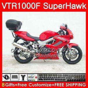 Body For HONDA VTR1000F TOP SuperHawk Stock red 97 98 99 00 01 02 03 04 05 91NO37 VTR 1000F 1997 1998 1999 2000 2002 2003 2004 2005 Fairing