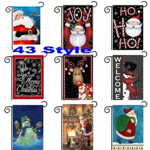 30 * 45 cm Weihnachten Garten Fahnen Haus Dekoration Outdoor Hängen Polyester Garten Fahnen Weihnachtsschmuck Xmas Party WX9-04