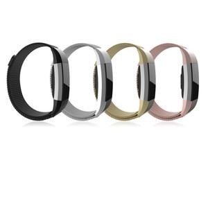Correa de malla magnética absorbente magnética Sports Band Holder pulsera para Fitbit Charge 2 frecuencia cardíaca inteligente más nuevo FC0062