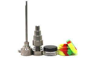 Набор инструментов Bong 10/14 / 18 мм Неудачный GR2 Titanium Nail Carb Cap Cap Dabber Slicone Jar Glass Bong Курение воды Трубы