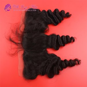 13x4 Ear To Ear Lace Frontal Closure 8A Grade Malaysian Loose Wave Full Lace Frontals With Baby Hair Bleached Knots