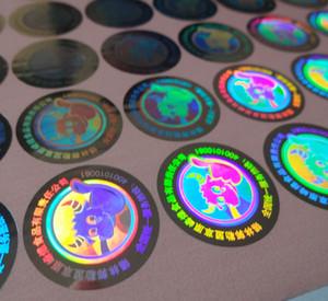 10000 peças / set! etiqueta personalizada da etiqueta do laser do holograma da SEGURANÇA da PRATA, .void se removido! Design livre