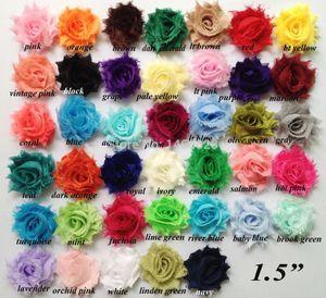 Fashion Headbands Epacket 45 Yards / Lot، 1 .5 '' Shaby Frayed Flowers، Shabby Chic Flowers for Headband