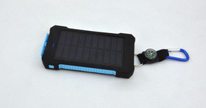 20000mAh 유니버설 2 USB 포트 태양 전원 은행 충전기 아이폰 삼성 핸드폰 충전기에 대 한 소매 상자와 외부 백업 배터리