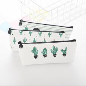 مكتب الطالب سستة أكياس قلم رصاص أكياس القرطاسية مخلب المنظم حقيبة هدية تخزين الحقيبة الطفل الصبار عملة محفظة فتاة أكياس ماكياج
