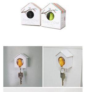 Hot selling Sparrow Bird House Nest Whistle Key Holder Ring Keychain Holder Boxed 5pcs الجملة