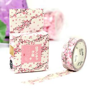 1.5 * 7 M Romántica Sakura washi tape DIY cinta adhesiva scrapbooking adhesiva etiqueta adhesiva cinta papelería 2016