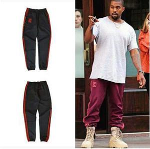 HOT Kanye Red Casual Pants Season4 Эластичная талия с лодыжкой Banded Pants Jogging Fitness Sport Pants Plus Размер Свободные брюки