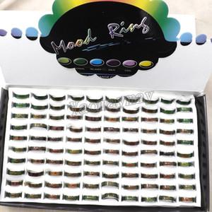패션 무드 링 무료 배송, 100pcs 믹스 사이즈 MOOD 링 색상 온도 변화
