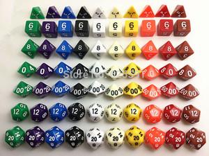 7pc / set haute qualité multi dés ensemble d4 d6 d8 d10 d10% d12 d20 RPG pour Fun Dice Game Board