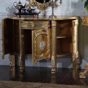 Muebles antiguos italianos - artesanía barroca agrietamiento pintura gabinete de piso