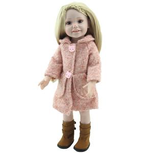 새로운 도착 18inch Reborn American Girl Doll 현실적인 아기 장난감 아름다운 비닐 봉지와 아름다운 신발로 만든