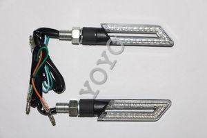 Универсальный дым объектив мотоцикл светодиодные индикаторы сигнала поворота мигалка задний фонарь лампа 650 GSX-R 600 750 1000 SV650 GSF 1200