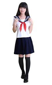 Japan School Girls Sailor Dress Shirts Uniforms Cosplay Costumes