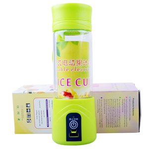 Electric Juice Fruit Cup Portable Glass Bottle Little Cyclones Rechargeable Automatic 380ML 2000mAh Battery DC3.6V Food Grade Material Home