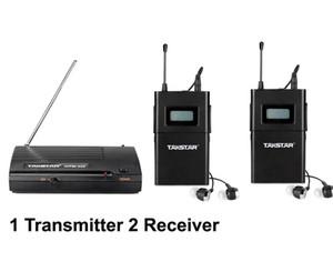 Promociones WPM200 wpm-200 Auriculares inalámbricos UHF en la oreja Stage Monitor System 1 Transmitter 2 Receiver Pack