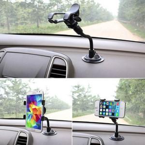 듀얼 클립 자동차 마운트 홀더 360도 자동차 앞 유리 마운트 휴대 전화 홀더 브래킷 스탠드 스트레스 덮개 흡입 컵 GPS 휴대 전화 아이폰