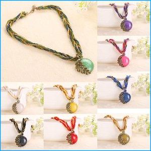 2016 Павлин украшения грубый ожерелье женский ключицы короткая цепь бирюзовый камень кулон ожерелья летний стиль ювелирные изделия