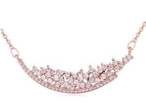 Chokers kolye Takı Moda Kadınlar Yüksek Kalite Zirkon 18 K Altın Kaplama Geometrik Klavikula Zincir Kolye Toptan TN028