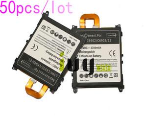 50pcs / lot 3300mAh LIS1525ERPC Batería de repuesto para Z1 L39H L39T L39U C6902 C6903 C6906 C6916 C6943 Baterías Batteria Batterie