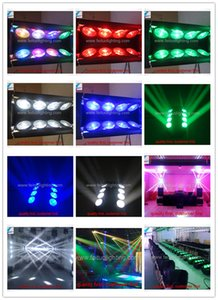 6 / lot fabricant d'éclairage tête mobile led dj spider light 8x10w led spider light