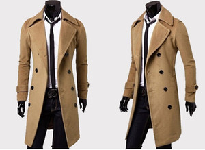 Mens Designer Clothing Trench Coats Free Shipping Winter Fashion Single Breasted Cashmere Jacket Coats Men Overcoat Casacos