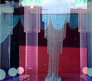 large and tall wedding walkway crystal flower stand for wedding stage