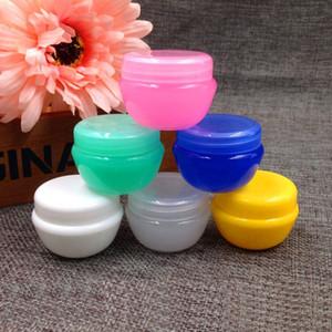 20g bottiglia di essenza di plastica vuota riutilizzabile colore crema di funghi viso vasetto di cosmetici contenitori di imballaggio 50 pz / lotto HN03