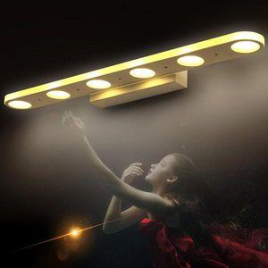Yaratıcı banyo vanity led ışık led ayna ışıkları modern duvar lambaları banyo elbise odası makyaj banyo aydınlatma duvar aplikleri lambası
