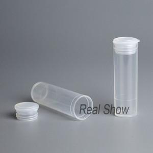 100шт пустая пластиковая бутылка 5 мл ПП бутылка маленькая уплотнительная трубка прозрачная бутылка банку пластиковая упаковка контейнер