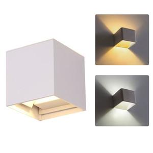 Applique da parete LED UP Down Lampada IP65 da esterno 3W 6W 8W per il moderno bagno Portico Illuminazione cortile Decorazione 110V 220V 240V Bianco caldo Bianco freddo