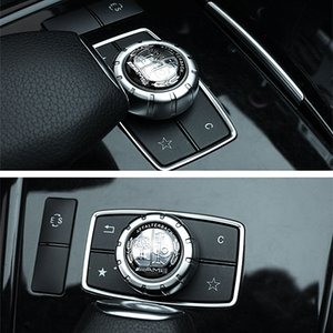 Araba styling Iç 2.9 cm AMG gümüş elma ağacı sticker Mercedes benz için Bir B C E GLC GLA CLA GLE GLK W205 W212 W213 tüm sınıf