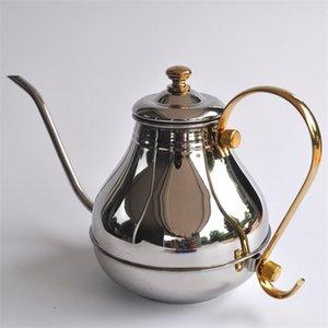 1200 ML büyük kapasiteli paslanmaz çelik ince ağız pot / Yaratıcı güzel kahve ve çaydanlık percolator pot Mutfak Aletleri