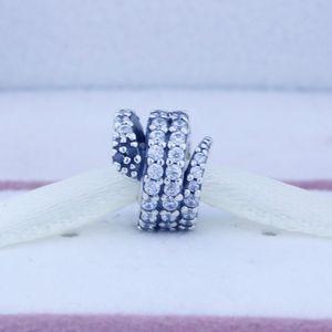 100% 925 sterling silver beads prata sparking snake charme serve para pandora jóias pulseiras colar 2016 presentes de natal 1 pc / lote
