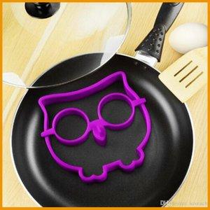 جديد لطيف سيليكون البومة شكل البيض المقلي العفن المشكل الدائري مطبخ الطبخ أداة شحن مجاني بالجملة