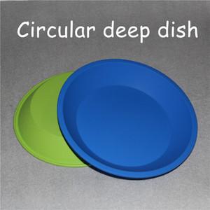 "Plateau circulaire en silicone Plat rond profond 8 ""convivial Plateau en silicone antiadhésif BHO fda Tapis en silicone 4.5X5.5"""