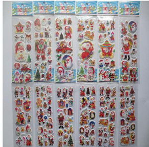 Экологичный звезды Санта-Клауса 3D ПВХ Puffy Аниме мультфильм наклейки Дети игрушки Мультфильм Craft Классические игрушки Детские игрушки Рождество