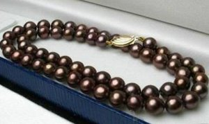 Gorgeous 10-11mm south sea chocolate Pearl Necklace 18inch 14k gold clasp