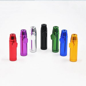 표시 상자 무료 배송 세련된 멀티 컬러 총알 로켓 모양의 작은 휴대용 스너프 콧김이 거센 알루미늄 합금 참을 담배 파이프