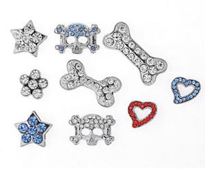 Büyük indirim! Moda Rhinestones Köpek için 20mm Slayt Charm DIY / Pet Yaka Pet Takı Pet Moda Toptan