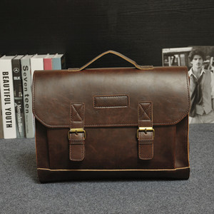 2021 Brand Mens Men Bag Briefcases Tote Shoulder Vintage Bags Messenger Bag For Men Laptop Handbag S Business Designer Leather Genuine Dnnc