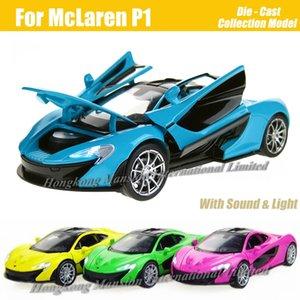 Échelle 1:32 Alliage Moulé Sous Pression En Métal Super Modèle De Voiture De Course Pour McLaren P1 Collection Modèle Pull Pull Toys Voiture Avec SoundLight