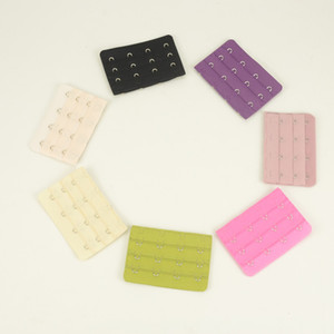 Accessoires Femme Sous-Vêtements 3 rangs 4 Crochets Nylon Bras Bretelles Extension Bras Extender Multicolor pour choisir
